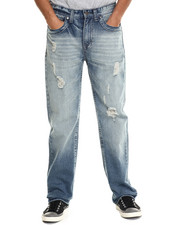 Men - Chevron Flap - Pocket Denim Jeans