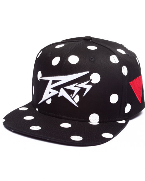 Bass By Ron Bass Men Polka Bass Snapback Hat Black