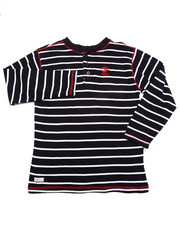 Sizes 8-20 - Big Kids - STRIPED HENLEY (8-20)