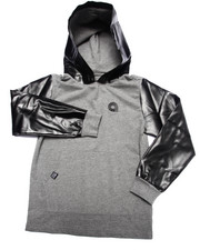 Sizes 8-20 - Big Kids - HOODY W/ FAUX LEATHER HOOD & SLEEVES (8-20)
