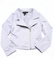 Girls - French Terry Moto Jacket (7-16)