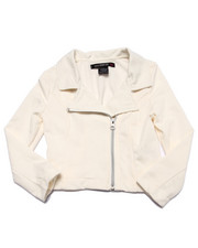 Girls - French Terry Moto Jacket (4-6X)