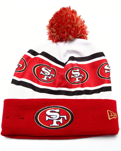 New Era Men San Francisco 49Ers Ka Nit Sublimation Knit Hat Red