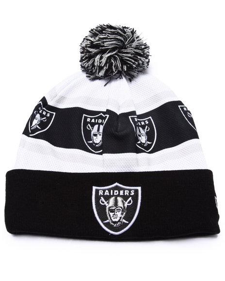 New Era Men Oakland Raiders Ka Nit Sublimation Knit Hat Black