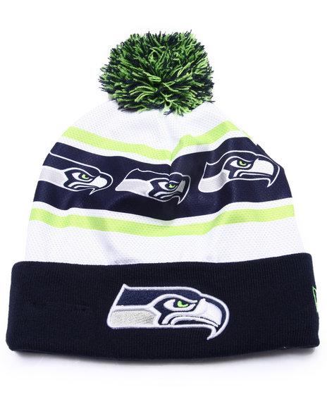 New Era Men Seattle Seahawks Ka Nit Sublimation Knit Hat Green