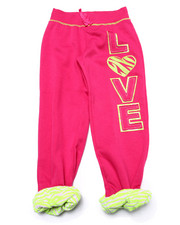 Girls - Love Zebra Print Cuffed Sweatpant (4-6X)