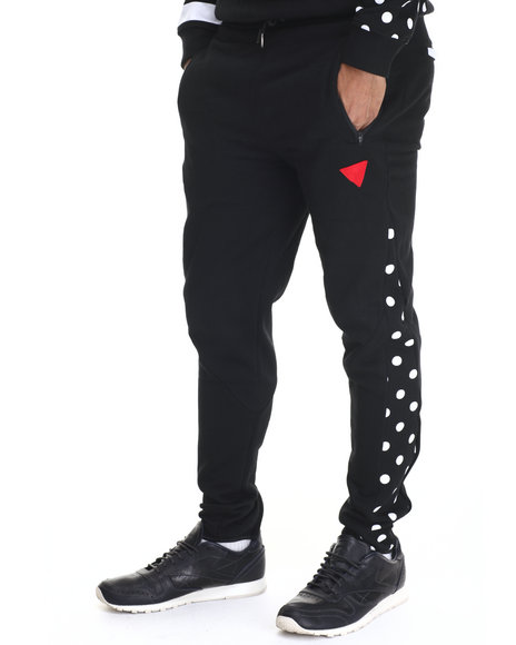 Bass By Ron Bass - Men Black Speaker Bass Striped Jogger