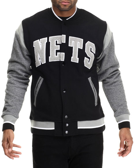Ur-ID 188292 Mitchell & Ness - Men Black Brooklyn Nets Nba Role Player Fleece Jacket