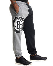 NBA, MLB, NFL Gear - Brooklyn Nets NBA Side Logo Sweatpants