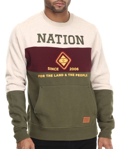Parish - Men Khaki,Maroon,Olive Quilted Sweatshirt