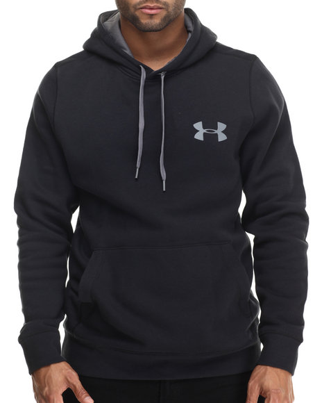 Under Armour - Men Black Rival Cotton Hoodie