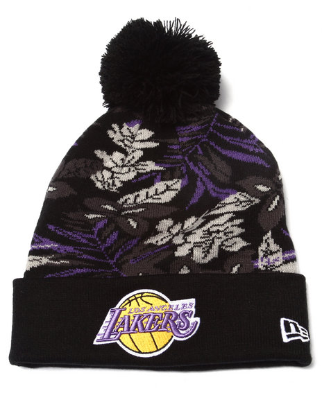 New Era Men Los Angeles Lakers Snow Tropics Knit Hat Multi - $11.99