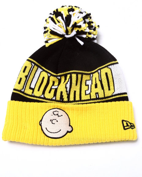 New Era Men Charlie Brown Rep Ur Team Knit Hat Yellow