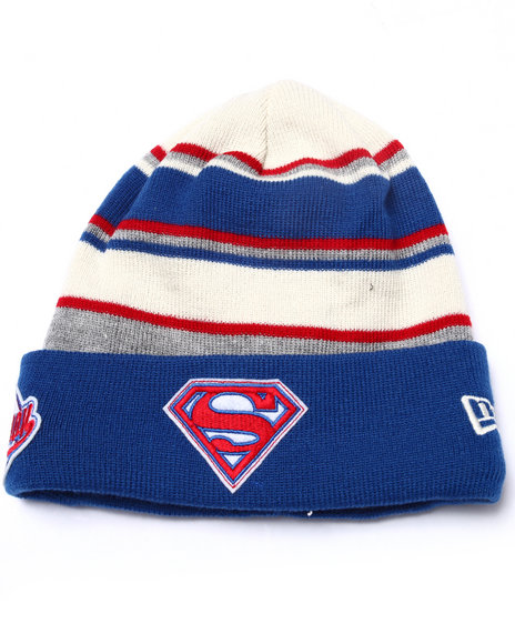 New Era Men Superman Winter Tradition Knits Hat Blue