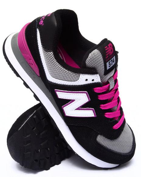New Balance - Women Black,Pink 574 Core Plus Sneakers