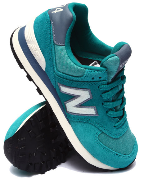 New Balance - Women Teal 574 Pennant Sneakers