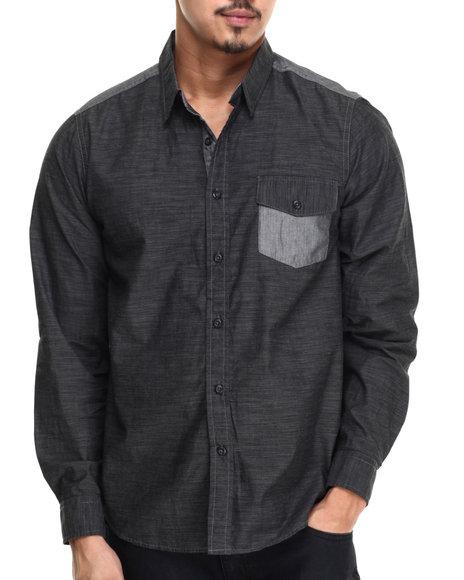 Buyers Picks - Men Black Javon Button Down Shirt
