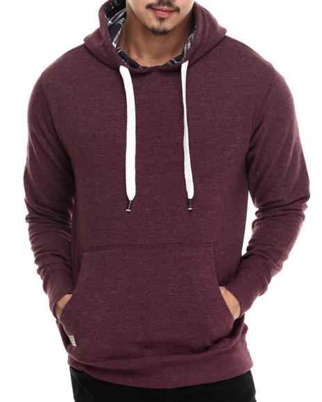 Buyers Picks - Men Maroon Brushed Fleece Pullover Hoody