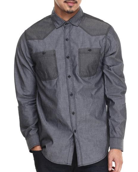 Ur-ID 188366 Buyers Picks - Men Grey Coltez L/S Button Down Shirt