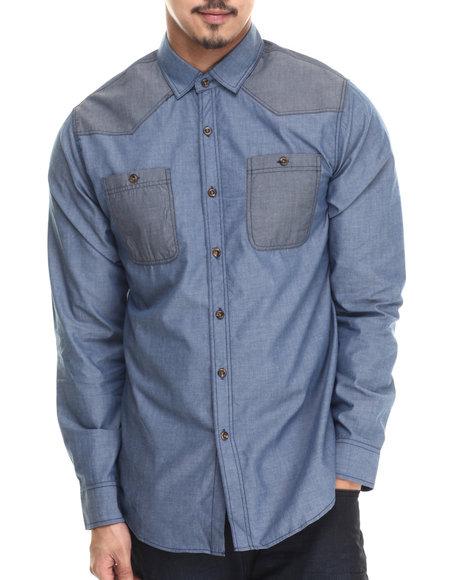 Buyers Picks - Men Blue Coltez L/S Button Down Shirt - $30.99