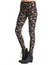 Bottoms - Flora Small Vintage Floral Print Legging