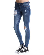 Basic Essentials - On the Road Destructive Skinny Jean
