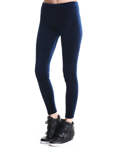 Leggsington - Women Blue Blue Velvet Legging
