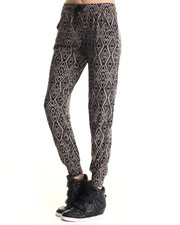 Bottoms - Jordyn Jogger Pant w/Diamond Print