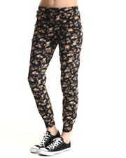 Bottoms - Flora Printed Jogging Pants