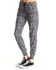 Bottoms - Kayla Jogger Pant w/large tribal print