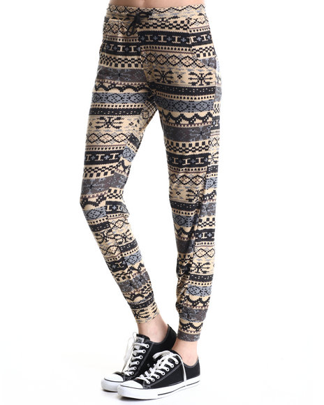 Ur-ID 188385 Leggsington - Women Multi Susy Jogger W/Winter Print