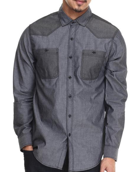 Buyers Picks - Men Grey Coltez L/S Button Down Shirt