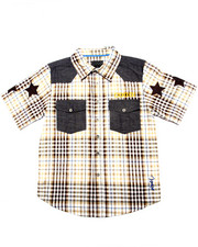 Sizes 8-20 - Big Kids - CHAMBRAY & PLAID WOVEN (8-20)