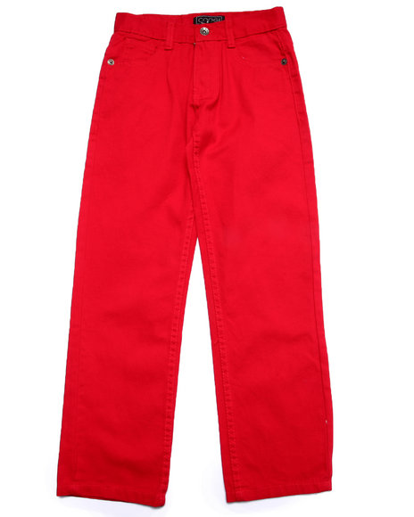 Coogi - Boys Red Twill Pants (8-20)