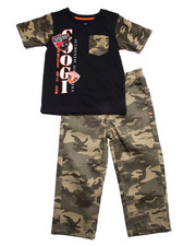 Sets - 2 PC SETS - TEE & CAMO PANTS (2T-4T)