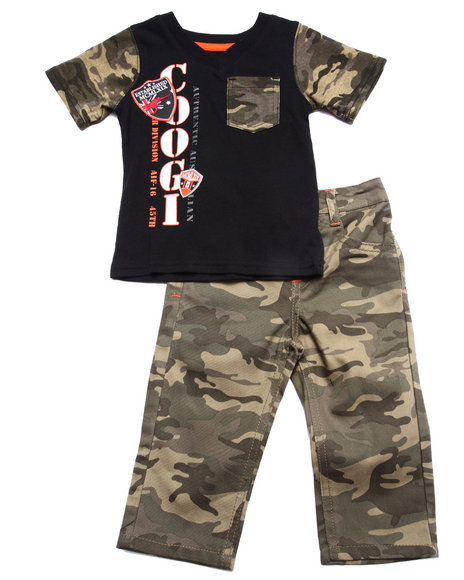 Coogi - Boys Camo 2 Pc Sets - Tee & Camo Pants (Infant) - $30.99