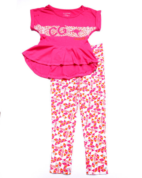 Coogi - Girls Pink 2 Pc Set - Tee & Pants (4-6X) - $31.99