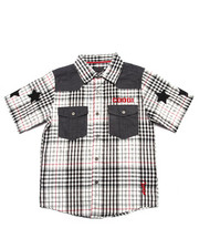 Boys - CHAMBRAY & PLAID WOVEN (8-20)