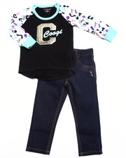 COOGI - 2 PC SET - ANIMAL RAGLAN & JEANS (2T-4T)