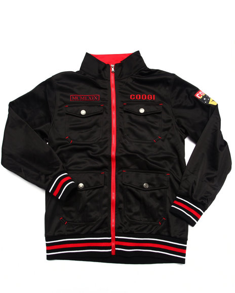 Coogi - Boys Black Tricot Track Jacket (8-20)