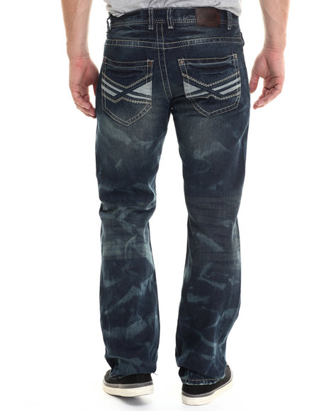 Buyers Picks - Men Medium Wash Premium Washed X Backpocket Denim Jeans - $40.00