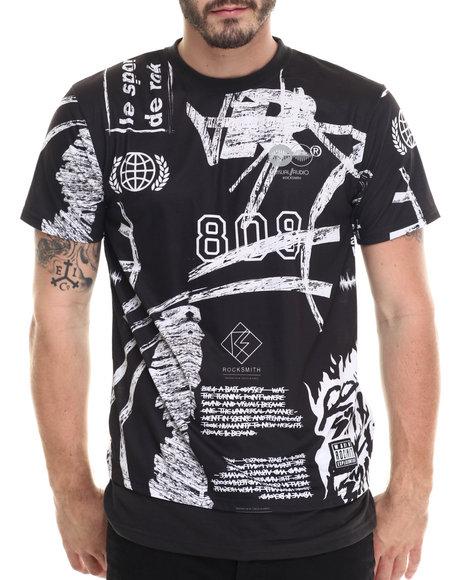 Rocksmith - Men Black Paris Extended T-Shirt