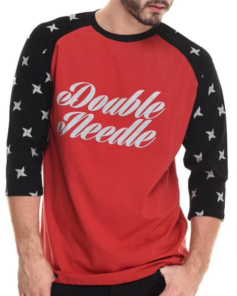 Double Needle Red Independent L/S Tee