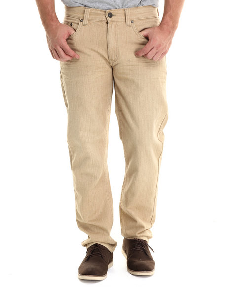 Buyers Picks - Men Khaki 6 Pocket Heavy Wash Colored Denim Jeans