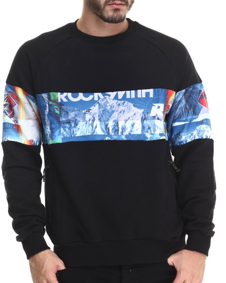 Ur-ID 190555 Rocksmith - Men Black Slopes Sweatshirt