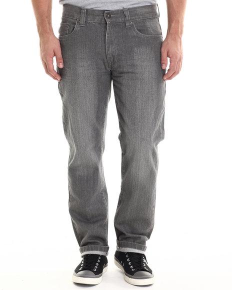Buyers Picks - Men Grey 6 Pocket Heavy Wash Colored Denim Jeans