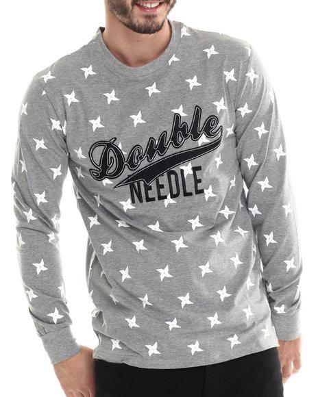 Double Needle - Men Grey Team Shuriken L/S Shirt