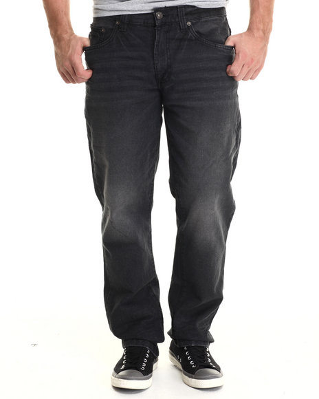 Ur-ID 190569 Buyers Picks - Men Black 6 Pocket Slim Straight Denim Jeans