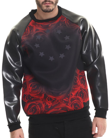 Buyers Picks - Men Black Superrealism Art Neoprene Sweatshirt
