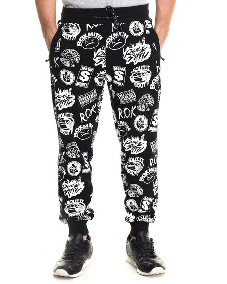 Rocksmith - Men Black Rap Slim Sweats